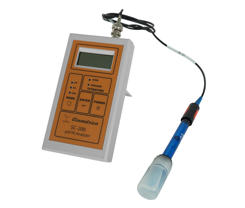 Miernik do pomiaru pH i kwasowości w winie